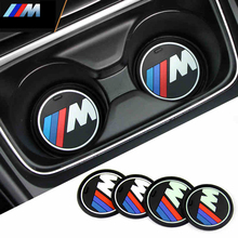 High qulaity 2pcs/lot silica gel car cup anti-slip pad mat for bmw 1 3 5 7 Series F30 F35 320li 316i 328 X1 X3 X5 X6 accessories