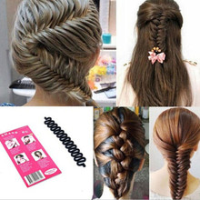 hair curler French Hair Roller clip With Hook Magic Twist Styling Braiding Tool Bun Maker hair style tools M4