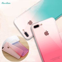 50pcs/lot DHL gradient ramp color Case For iPhone 7 7 Plus Ultra Slim Hard PC Phone Back Cover shell skin for iPhone 6 6s Plus