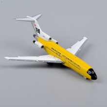 Colorful 1/500 Scale Diecast Airplanes Model Toys Inflight500 Yellow Braniff Boeing 727-100 Aircraft Model Toys Gifts Collection