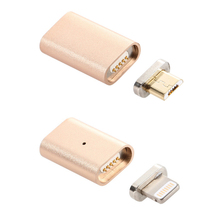 Magnet micro usb lightning Adapter case For iphone Android  phone Magnet Charging Cable Adapter