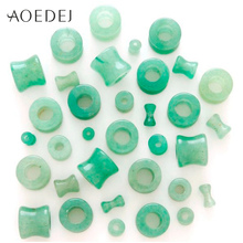 AOEDEJ 6-16mm 7 Colors Stone Plugs And tunnels Flesh Tunnels Stone Ear Expander Piercing Men Womens Ear Gauges Expander Hollow