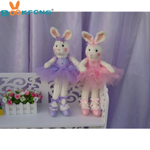 44Cm Ballet Rabbit Plush Stuffed Toys Cute Cartoon Rabbit with Ballet skirt Dress Bouquet Dolls Paty Gift Toys(China)