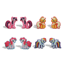 12-18pcs My Little Ponies Cute Cartoon Blackboard Magnet Sticker Refrigerator Magnet Office Stationery School Kid Party Gift toy