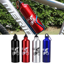 Buy 750ML Aluminum Alloy Bike Water Bottle Outdoor Bicycle Bike Sports Bottles MTB Cycling Water Bottle + Holder Cages Mounte for $6.99 in AliExpress store