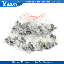 12valuesX10pcs=120pcs 0.22UF-470UF Aluminum electrolytic capacitor component diy assortment kit new and original free shipping(China)