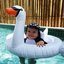 Baby White Swan Inflatable Pool Float Pink Flamingo Ride-On Swimming Ring Water Floating Holiday Party Toys For babies Piscina
