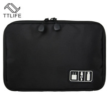 TTLIFE Waterproof Electronic Accessories Storage Bag Carry Protection Pouch Organiser for Headphone Cable U Disk HDD SD Card(China)