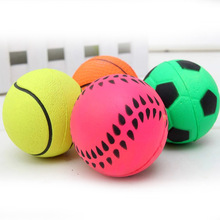 Dog Toys Durable Basketball/Soccer etc Shape Spherical Rubber Small Bouncy Ball Dog Training Chewing Pet Toys Mascotas Cachorro