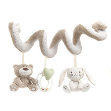 Baby Rattle Bed Stroller Hanging Spiral Activity Rabbit Musical Mobile Bell Infant Educational Toys Rattles Baby Gift