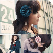 1PCS Fashion Women Lady Big Peony Flower Hair Clip Hairpin Beautiful Brooch Headdress Accessories Hot New