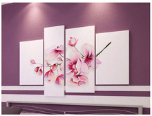 Free Shipping Oil Painting Hand Painted Client Design Flower Wall Oil Painting Wall Art Canvas Picture Modern Home Decor