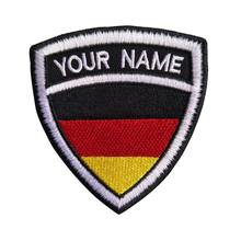 Custom Embroidery Germany Name Patch, 2 pcs Personalized Military Number Tag Customized Logo ID For Multiple Clothing Bag