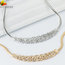 OPPOHERE Women Jewelry Crystal Chain Choker Chunky Statement Bib Pendant Chain Necklace