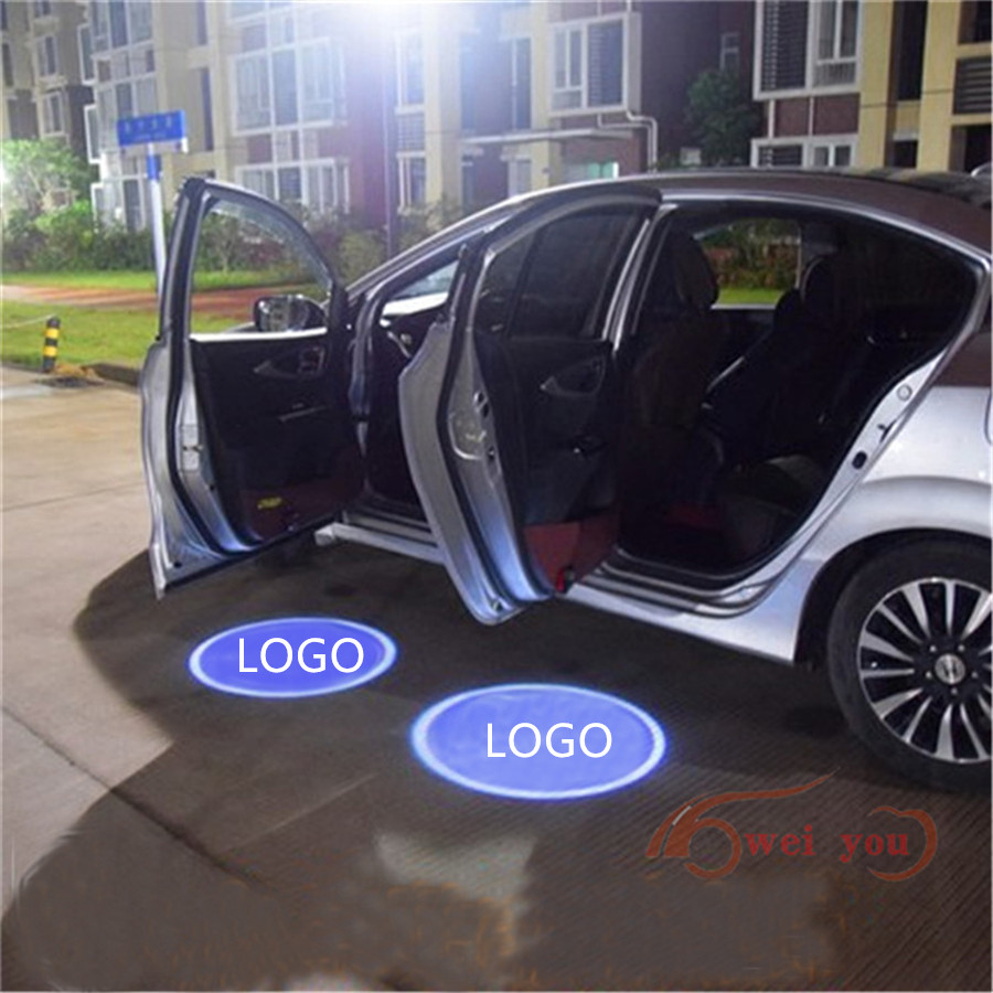 NO Drill LED Car Door Logo Projector Laser Light Emblems Welcome Ghost Shadow Logo lamp FOR VW TIGUAN TOUAREG CC Touran PHIDEON<br><br>Aliexpress
