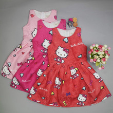 Baby Girls Clothes Hello Kitty Dress for Girls Christmas Dress Princess Party Clothes Children Hello Kitty Clothing Kids Costume(China)