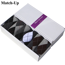 ARGYLE SOCK newHOT 100% Cotton Men's business socks 6pairs/lot (no gift box)(China)