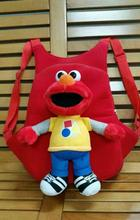 32*26cm Sesame Street Elmo Big Bird Grof Ernie Zoe Children Pupil Plush Soft Bag Cute Creative Backpack For Children Gifts(China)
