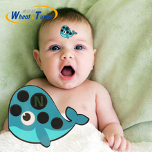 4Pcs/Lot Baby Cartoon Forehead Sticker Thermometer Lcd Digital Strip Body Fever Kids Medical Temperature For Children