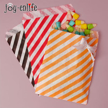 cheap 25pcs paper Candy bag gift bags Diagonal stripes Favor BUFFET BAGS New year Wedding decoration Party Favor Food Packaging