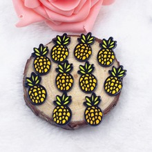 20pcs/lot flat back resin pineapple colors DIY resin cabochons accessories(China)