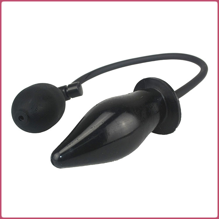 Inflatable Silicone Butt Plug Anal Dildo G Spot Stimulating Massager Anal Sex Toy Soft Anal plug Black anal Toys Sex product(China (Mainland))