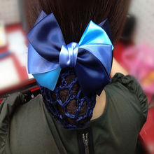 Fashion 1 pcsOccupation Bowknot Satin Hairbands Headbands Hair Head Bands Crochet Net Snood Bun Maker Headwear Hair Accessories
