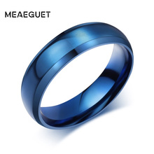 Meaeguet Simple Ring Stainless Steel Rings For Men Women Finger Jewelry Classic Wedding Engagement Wedding Bands