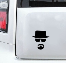 DSU 4pcs/lot Breaking Bad Heisenberg Sticker - Vinyl Decal for Apple Macbook Air/Pro Laptop Vinilos Paredes Black Wall Stickers(China)
