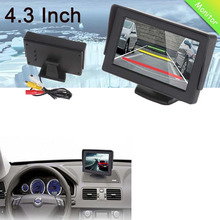 Original Car Monitor 4.3 Inch Foldable Reverse Rearview Parking System TFT LCD Monitor for Car Parking Safely Free Shipping(China)