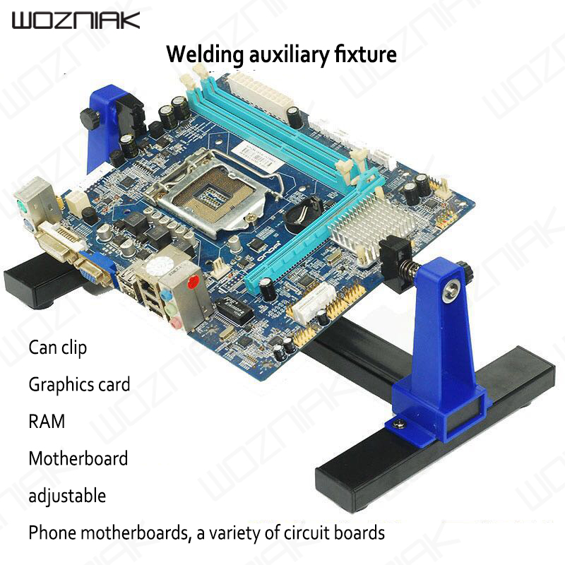 Wozniak Auxiliary PCB Clamp Bracket SN-390 Adjustable Welding Universal Mobile Phone Circuit Board Fixture Clamp Bench Seat DIY<br>