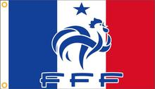 France Flag 90 x 150 cm Polyester Franch French National Football Team Flag For 2016 Euro Cup