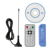 New USB2.0 Blue TV Stick DAB FM DVB-T RTL2832 R820T SDR RTL-SDR Dongle Stick Digital TV Tuner Receiver IR Remote With Antenna