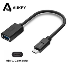 AUKEY USB Type C Adapter to USB 3.0 Adapter USB OTG Cable for Macbook Google Chromebook Samsung galaxy s8,xiaomi mi5 6 redmi4x