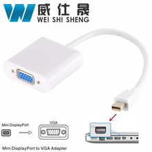 Mini DP to VGA Adapter Cable DisplayPort Converter Male to Female 1080P for HDTV Monitor MacBook Projector PC(China)