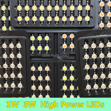 300 PCS 1W 3W Red Yellow Deep Red Orange High Power LEDs High Quality Chip 620nm 630nm 660nm 590nm for LED Grow Lamp Diodes