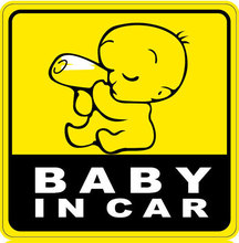 Cool Baby on Board baby in car inside Funny Car Sticker decal vinyl car styling Car Decal On Rear Windshield