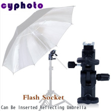 photographic equipment Alumnium Black Flash Shoe Umbrella Holder Swivel Light Stand Bracket A type