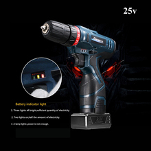 25V LONGYUN Cordless screwdriver battery*2 Power tools Screw gun Electric Screwdriver rechargeable lithium battery