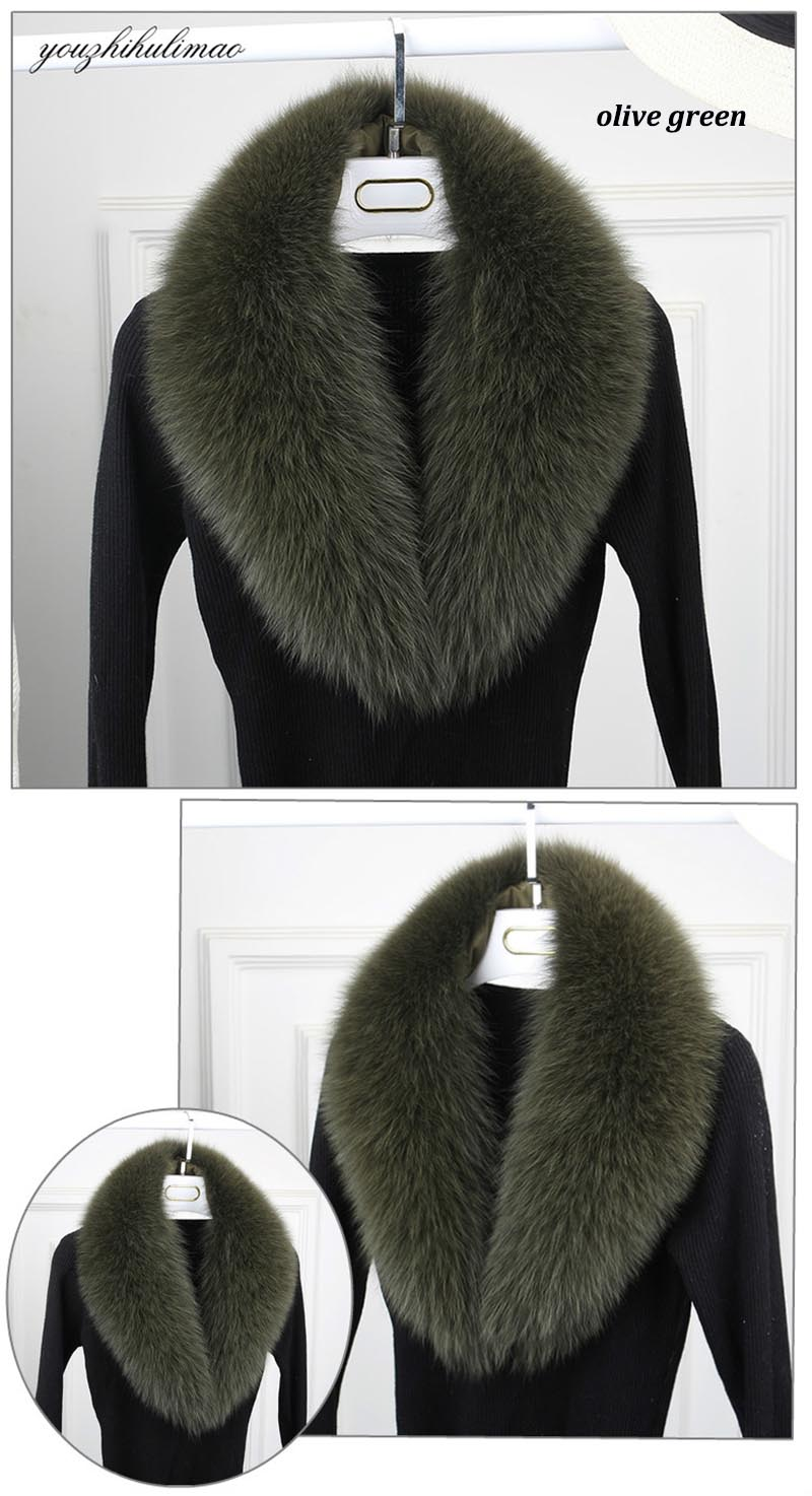 fox fur collar olive green