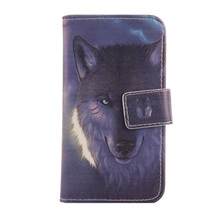 ABCTen Fashion Style PU Leather Cell Phone Case Credit card Slot Cover For Texet TM-5005 5''