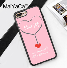 Nurse Medical Medicine Health Heart Phone Bag TPU Rubber Soft Covers For Apple iPhone 7 6 6S Plus 5 5S 5C SE 4S 7Plus Back Case
