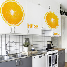 fashion creative warm color Orange DIY home kitchen girls room decor wall sticker removable store shop mural art stickers ZY1455