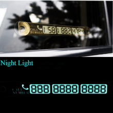 15*2cm Telephone Number Card Temporary Car Parking Card Notification Night Luminous Sucker Plate Phone Number Card