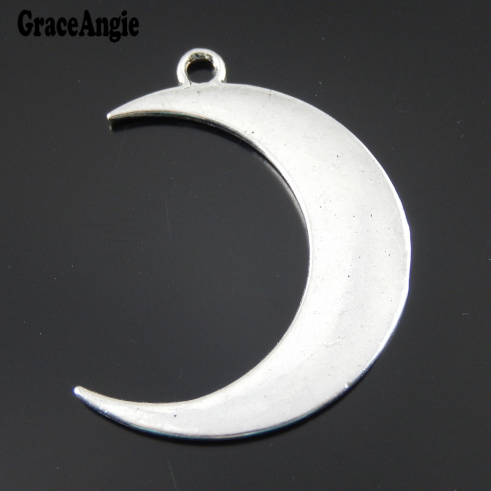 8PCS Antiqued Silver Alloy Fashion Moon Jewelry Accessories Necklace Pendant Charms 39339(China (Mainland))