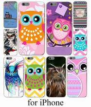 Hot Cute cartoon owl phone Hard Case Cover for iPhone 7 7 Plus 6 6S Plus 5 5S SE 5C 4S Case Cover