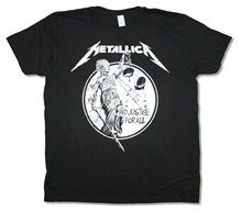Metallica Black & White And Justice For All Image Black T Shirt Hip Hop Short Sleeve Casual Printed Tee ghost terror Skeleton(China)