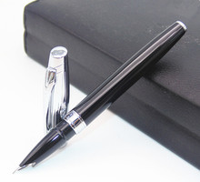 BAOER 100 Black And Sliver Retro-style Fine Nib Fountain Pen New Best Price Latest launch(China)