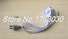 2Pcs White 1.8Meter Lamp Power Cord Swivel Dimmer Switch AC 250V/110V US Plug(China)