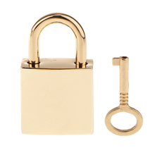New Hot 1 X Square Padlocks Mini Decorative Pad Locks Suitcase Luggage Bags Pad Lock Lovers Gifts Presents Suitcase Decorations(China)